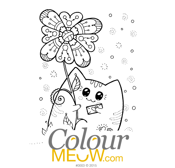 0003-Colour-Meow-Cat-Colouring-Page-Yoko-Cats-Neko-flower-heart-letter-sneak-preview_web