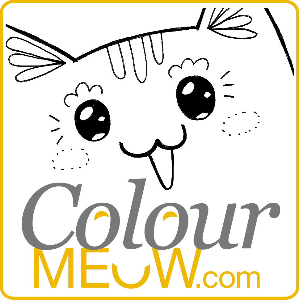 colour meow cat colouring pages and cat drawing for adults and kids cat colouring - Colour In Pictures