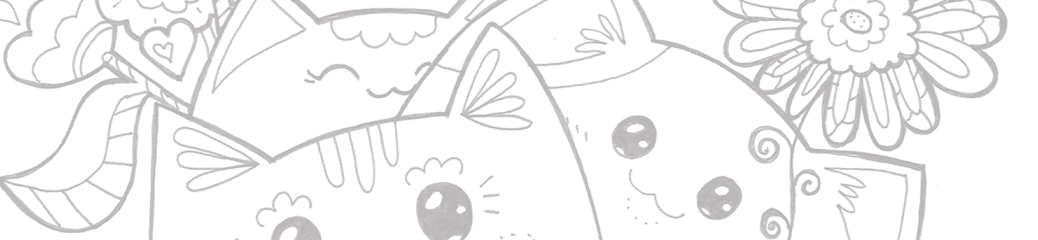 Colour meow - cat colouring pages - adults - kids - kawaii
